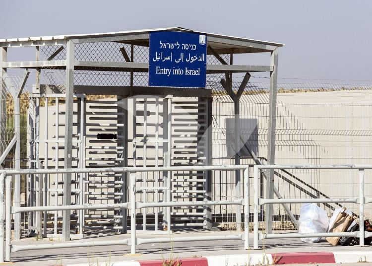 Erez Crossing on the border between Israel and the Gaza Strip, the entrance point from Gaza into Israel