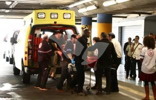 Stab Victim from Al-Fawwar Attack Arriving At Hospital