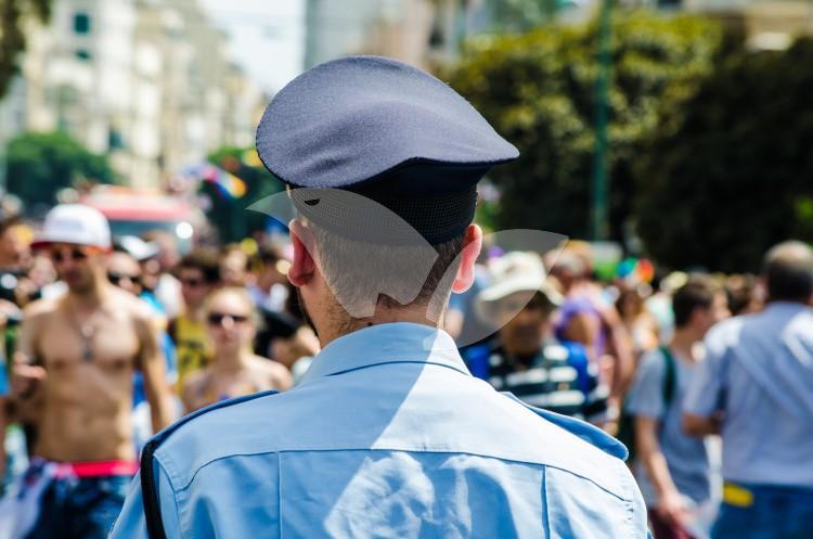Police Officer at Tel Aviv Pride Parade