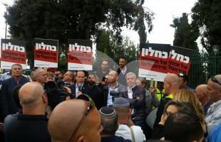 Nir Barkat Protesting Against the Minister of Finance 16.11.15