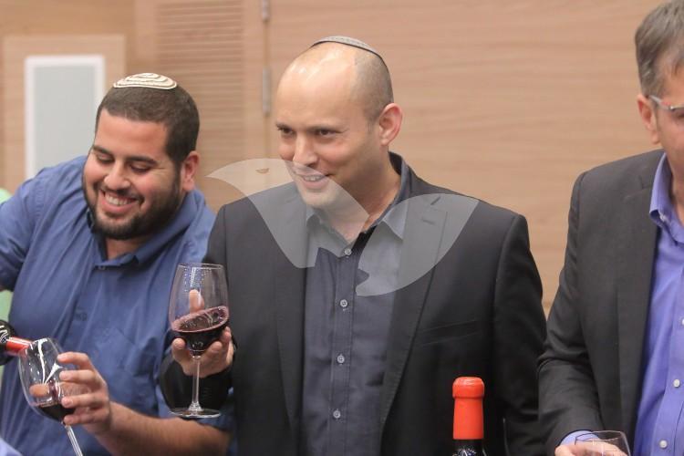 Minister Naftali Bennett at Launching of Judea and Samaria Wine List