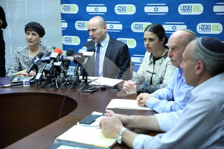 Meeting of MK's and Ministers from The Jewish Home party