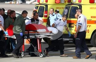 Arrival at Ben Gurion Airport of Wounded Israelis from Turkey Attack 20.3.16