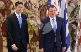 House Speaker Paul Ryan and Congressmen Meeting MK Edelstein at Knesset 4.4.16