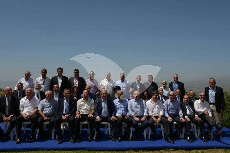 Cabinet Meeting in the Golan Heights to Mark One Year Since the Government was Formed 17.4.16