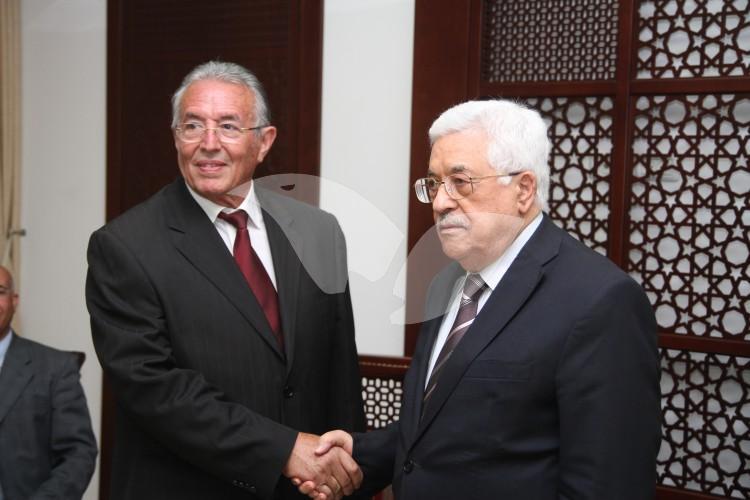 Ma'alot Tarshiha Mayor Shlomo Bohbot Meets With Palestinian President Mahmoud Abbas in Ramallah 31.5.16