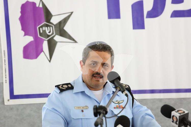 Police Chief Roni Alsheikh at Installation of New Police Commander of Judea and Samaria, 16.5.16