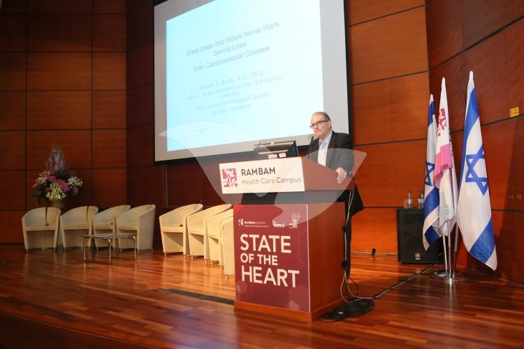 Cardiologist Professor William Brody at the Rambam Hospital Summit 29-31.5.16