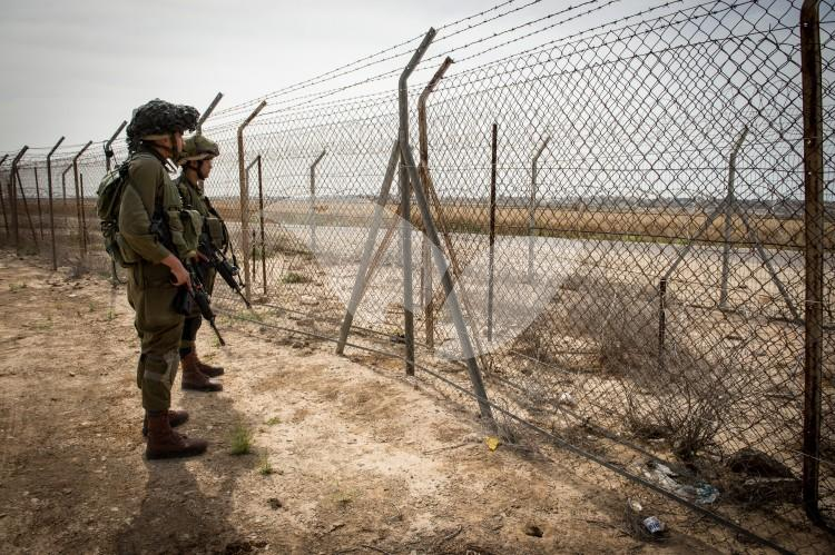 Soldiers Patroling the Gaza Border