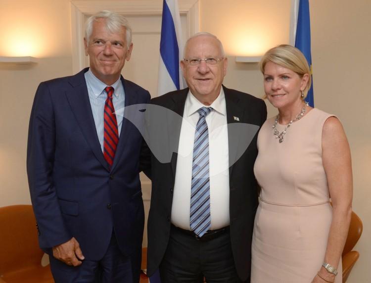 "President Rivlin Celebrates ""Europe Day"" With EU Ambassador to Israel Andersen"