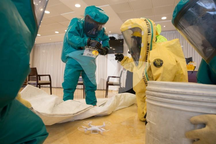 Emergency Hazardous Material Drill at the Knesset 16.6.16