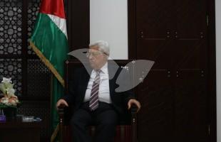 Palestinian President Mahmoud Abbas (Abu Mazen) in Ramallah