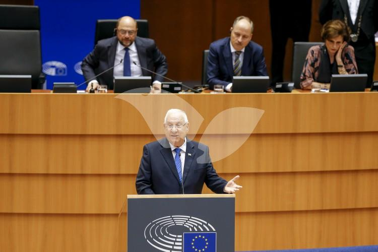 President Reuven Rivlin Addresses EU Parliament 22.6.16. Credit: European Union/Philippe BUISSIN