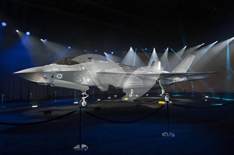 F35I Fighter Jet, 'Adir,' Unrolled at Ft. Worth Ceremony in Dallas, Texas in Presence of Defense Minister Avigdor Liberman, 22.6.16 Credit: Israel Air Force