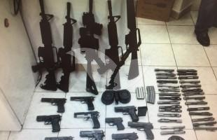 Arms Seized During Crackdown on Palestinian Smugglers