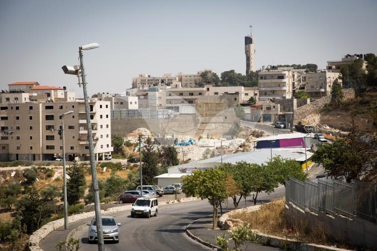 Isawiya, with the Hebrew University in the backround