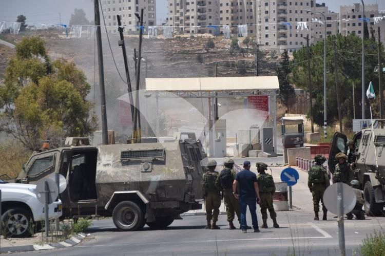 IDF Forces at Scene of Pipe-Bomb Throwing at Army Checkpoint 3.8.16