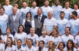 Culture and Sports Minister Miri Regev with Olympic Team Before Rio 2016