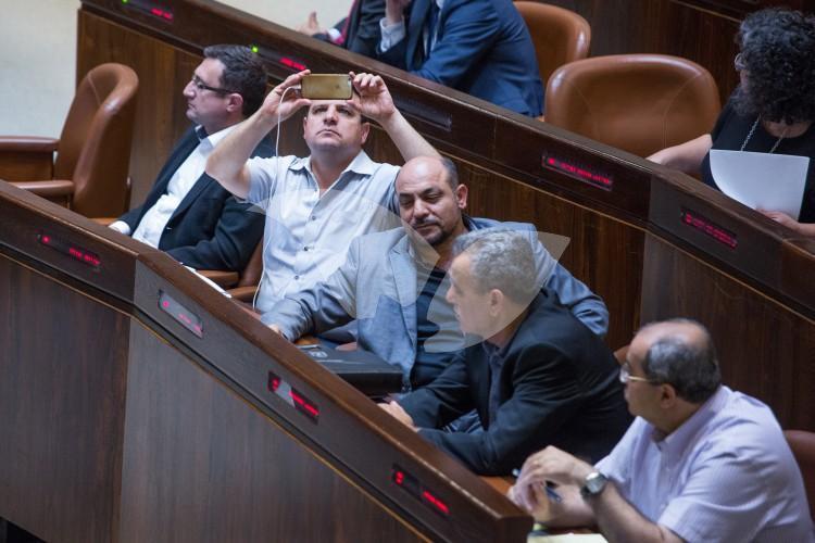 Arab-Israeli MKs at Transparency Bill Debate 11.07.2016