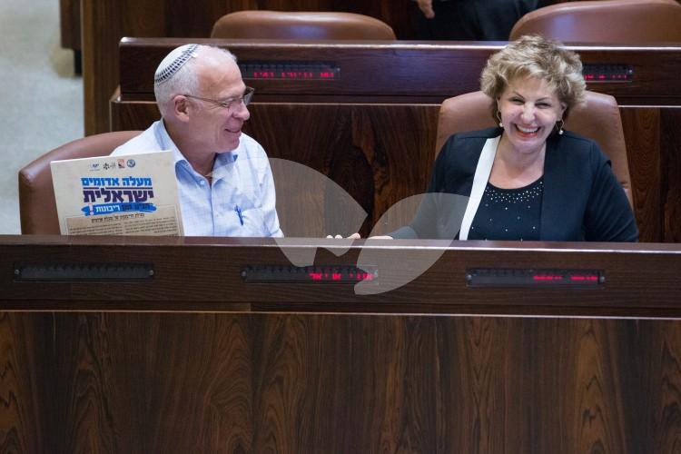 Minister Ariel and MK Landver at NGO Transparency Bill Debate 11.07.2016