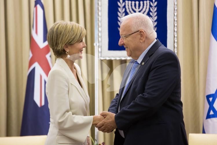 Australian Foreign Minister Julie Bishopand President of Israel Reuven Rivlin