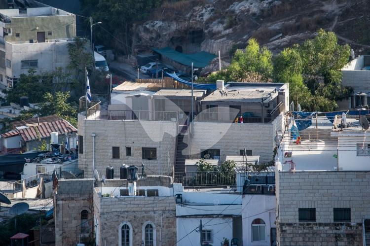 Jewish building in the East Jerusalem neighborhood of Silwan