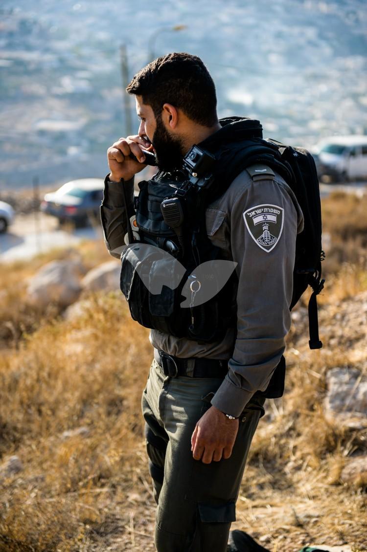 Israeli Border Police in the East Jerusalem neighborhood of Ras El Amud
