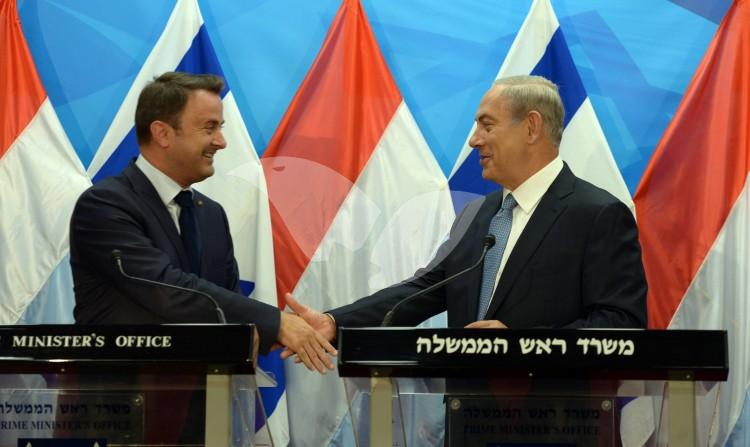 Luxembourg PM Xavier Bettel Meets PM Netanyahu