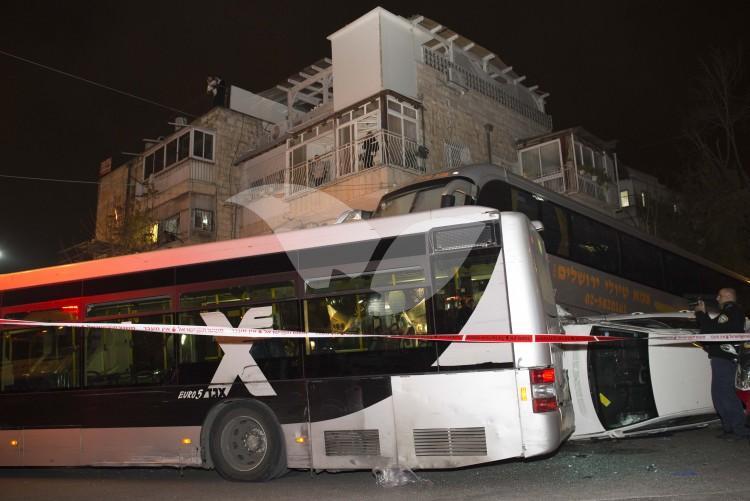 Traffic Accident at Bar Ilan Junction in Jerusalem, 8.12.16