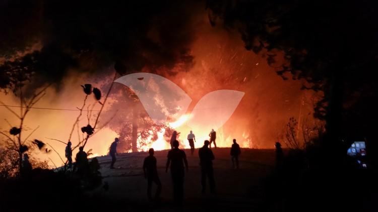 Fire in Dolev, Judea and Samaria, 22.11.16