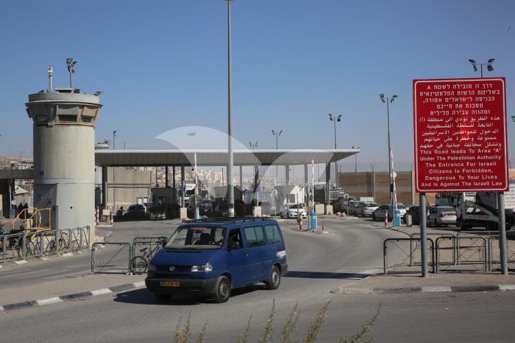 Qalandiya Checkpoint, the Main Crossing between Jerusalem and Ramallah 8.11.16
