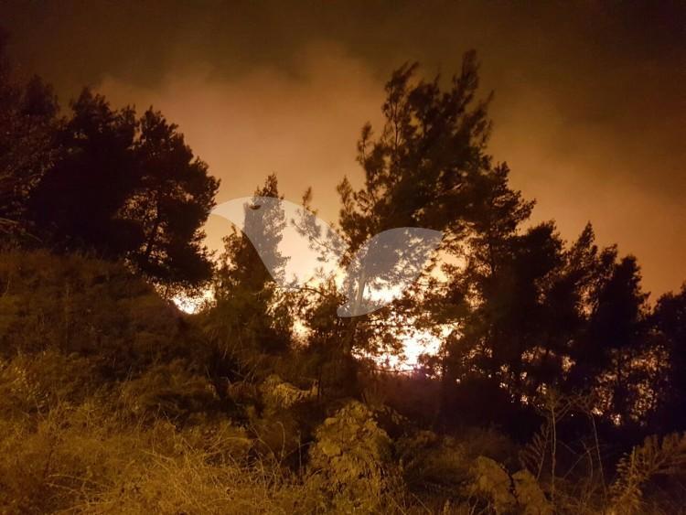 Fire in Dolev, Judea and Samaria