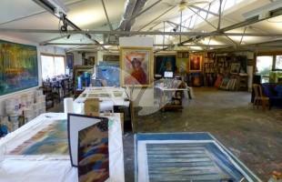 Yoram Raanan's studio in Beit Meir