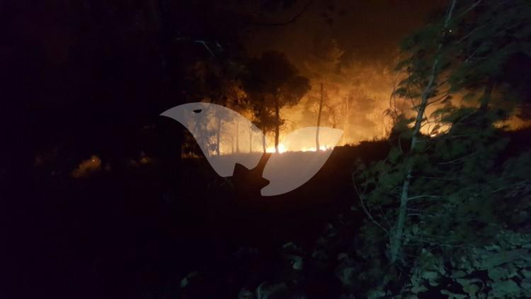 Fire in the community of Dolev in Judea and Samaria
