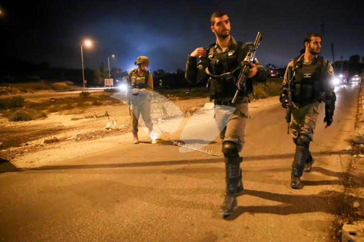 IDF Soldiers at Shooting Attack Scene, DCO Checkpoint near Beit El 31.10.16