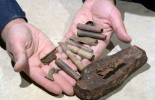 Some of the bullets, cartridges and shell fragments found at the site.