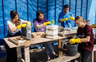Pre-military students of the Hanaton Academy participate in the excavations.