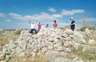 Students from the Melach Ha-Aretz preparatory program discover an Ottoman army outpost