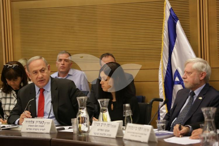 Prime Minister Netanyahu at the State Control Committee