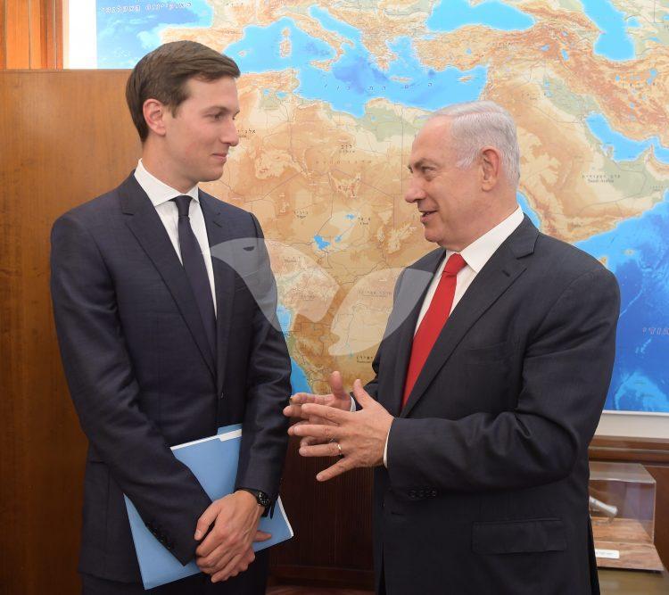 Jared Kushner with Prime Minister Binyamn Netanyahu