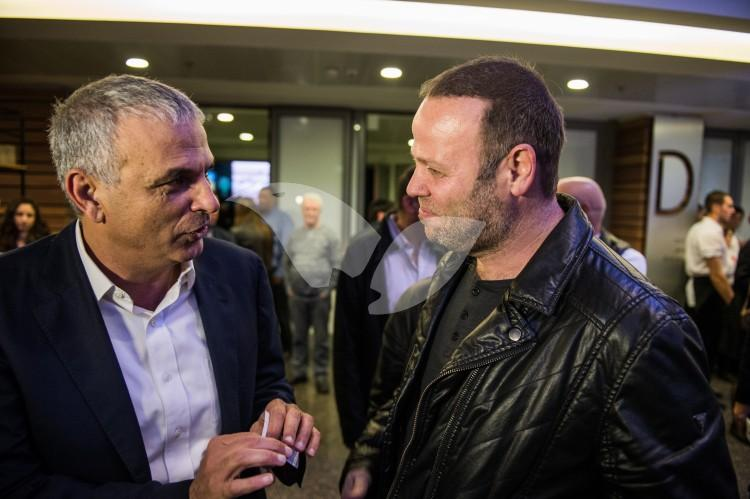 Moshe Kahlon with Adir Miller at the Sixth Annual Conference of the Union of Local Authorities in Israel and the Jewish National Fund