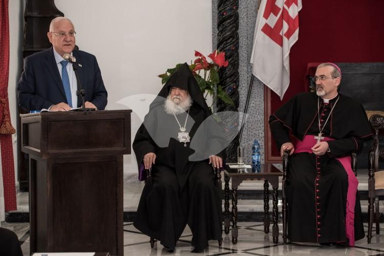 President Reuven Rivlin at the Greek Orthodox Church of Jerusalem 19.4.2017
