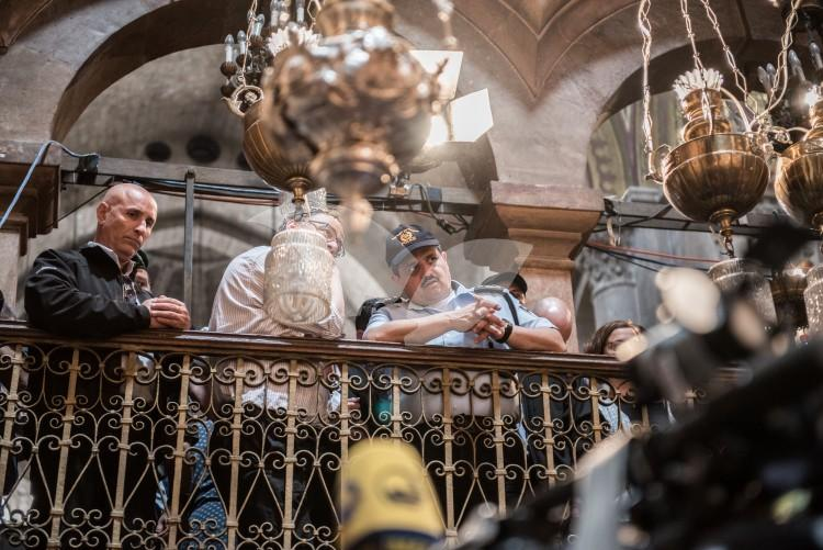 The Holy Fire ceremony at the Church of the Holy Sepulchre in Jerusalem 15,4.2017