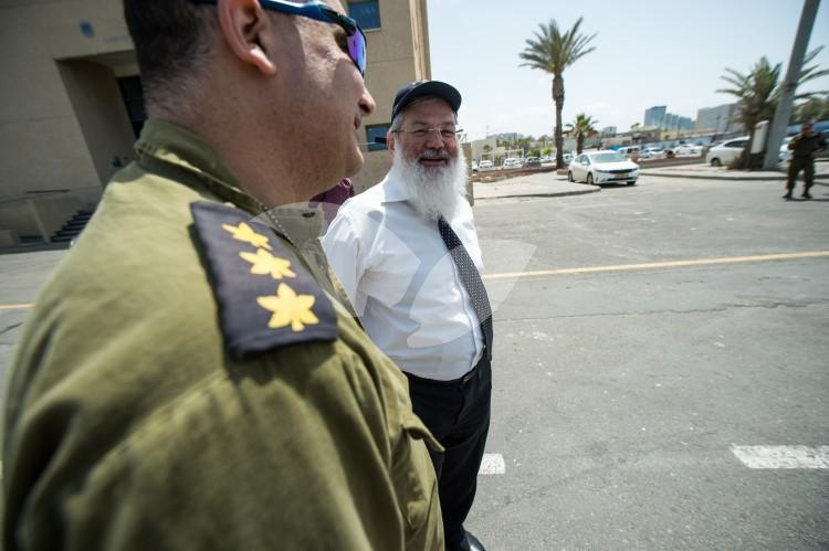Eli Ben-Dahan, the Israeli Deputy Minister of Defense, in a visit to the IDF Navy bases in south of Israel. 23.4.2017