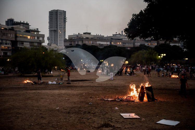 Lag BaOmer holiday in Tel Aviv.
