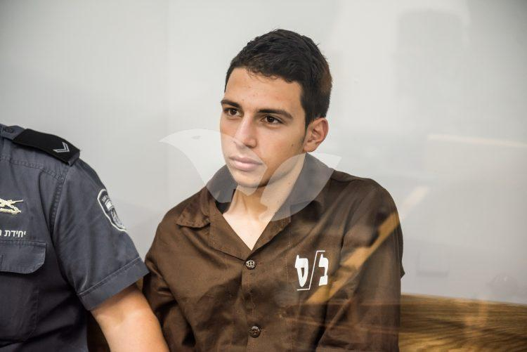 Imad Agbar, responsible for Tel aviv terror attack, at the Tel Aviv District Court
