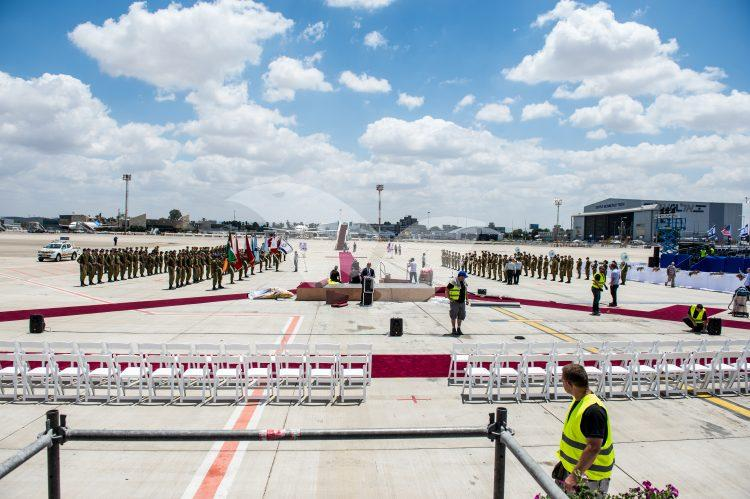 Preparations for Reception Ceremony of US President Trump at Ben Gurion Airport