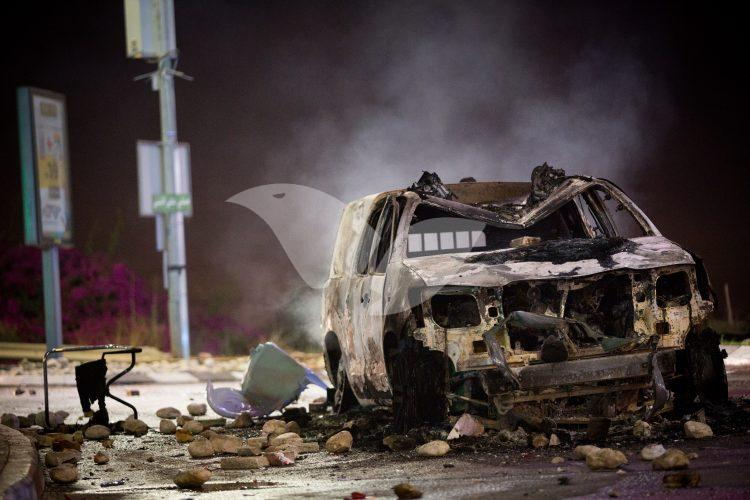 Torched Police Cars