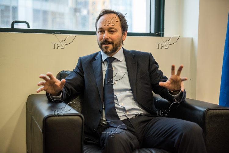 Emanuele Giaufret, the ambassador of the EU to Israel