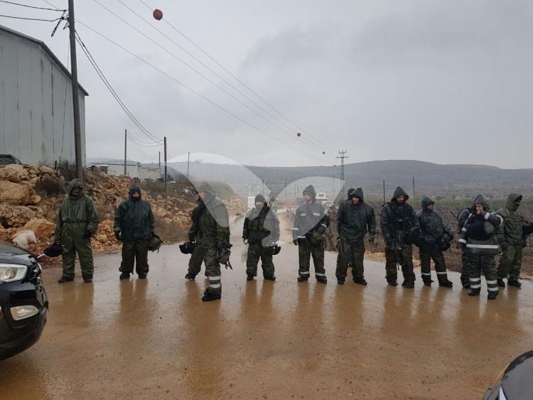IDF Roadblocks at the Entry to Amona